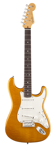 GUITARRA FENDER STRATOCASTER CUSTOM DELUXE FLAME TOP 150-9960-820 CANDY YELLOW