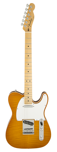 GUITARRA FENDER TELECASTER AMERICAN CUSTOM FLAME MAPLE TOP 155-6152-811 HONEY BURST