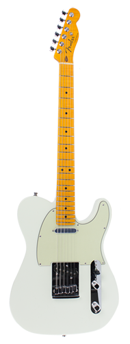 GUITARRA FENDER TELECASTER CUSTOM AAA FLAME MAPLE 923-1006-219 OLYMPIC WHITE