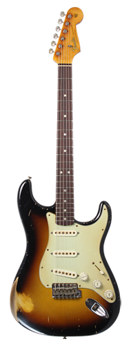GUITARRA FENDER 65 STRATOCASTER RELIC MASTERBUILT BY JOHN CRUZ 921-1000-692 3-COLOR SUNBURST