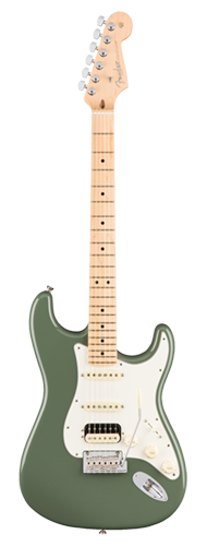 GUITARRA FENDER 011 3042 - AM PROFESSIONAL STRATOCASTER SHAWBUCKER HSS MN - 776 - ANTIQUE OLIVE