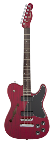 GUITARRA FENDER SIG SERIES JIM ADKINS JA-90 TELECASTER 026-2350-538 CRIMSOM RED TRANSPARENT