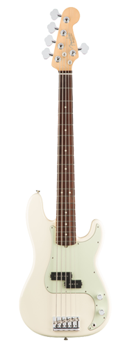CONTRABAIXO FENDER AM PROFESSIONAL PRECISION BASS V ROSEWOOD 019-4650-705 OLYMPIC WHITE