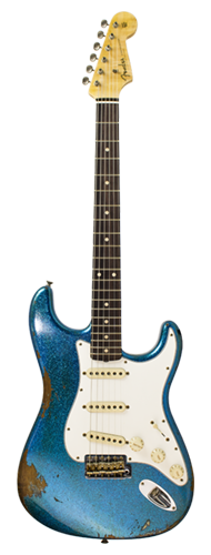 GUITARRA FENDER 60S STRATOCASTER HEAVY RELIC CUSTOM BUILT 923-1008-521 BLUE SPARKLE