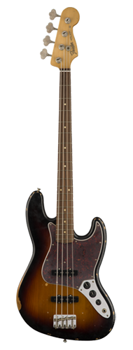 CONTRABAIXO FENDER ROAD WORN 60 JAZZ BASS PAU FERRO 013-1813-300 3-COLOR SUNBURST