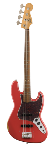 CONTRABAIXO FENDER ROAD WORN  60 JAZZ BASS PAU FERRO 013-1813-340 FIESTA RED