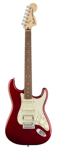 GUITARRA FENDER DELUXE STRAT HSS PAU FERRO 014-7203-309 CANDY APPLE RED