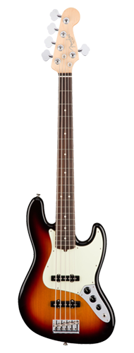 CONTRABAIXO FENDER AM PROFESSIONAL JAZZ BASS V ROSEWOOD 019-3950-700 3-COLOR SUNBURST