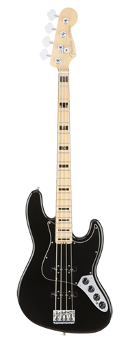 CONTRABAIXO FENDER AM ELITE JAZZ BASS MAPLE 019-7002-706 BLACK
