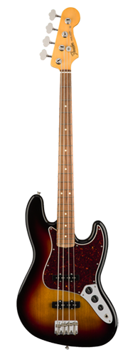 CONTRABAIXO FENDER 60S JAZZ BASS LACQUER PF 014-0163-700 3-COLOR SUNBURST