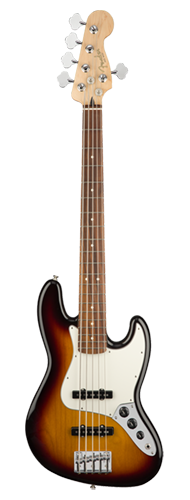 CONTRABAIXO FENDER PLAYER JAZZ BASS V PF 014-9953-500 3-COLOR SUNBURST