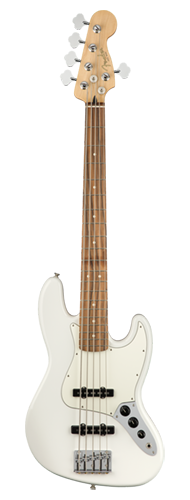 CONTRABAIXO FENDER PLAYER JAZZ BASS V PF 014-9953-515 POLAR WHITE