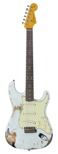 GUITARRA FENDER 62 STRATOCASTER HEAVY RELIC LTD EDITION 923-1009-560 SONIC BLUE OVER 3-TSB