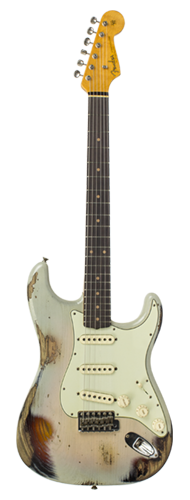 GUITARRA FENDER 62 STRATOCASTER HEAVY RELIC LTD EDITION 923-1009-557 VINTAGE BLONDE OVER 3-TS
