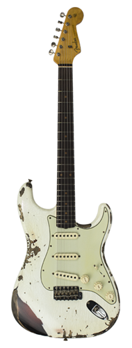 GUITARRA FENDER 62 STRATOCASTER HEAVY RELIC LTD EDITION 923-1009-562 OLYMPIC WHITE OVER 3-TSB