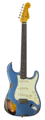 GUITARRA FENDER 62 STRATOCASTER HEAVY RELIC LTD EDITION 923-1009-563 L.PLACID BLUE OVER 3-TSB
