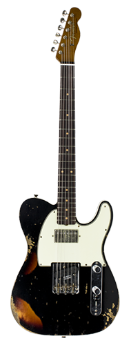 GUITARRA FENDER TELECASTER REVERSE CUSTOM HS HEAVY RELIC 2018 COLLECTION 923-5000-558 ABLK3TS