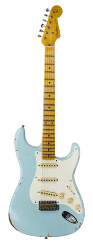 GUITARRA FENDER 58 STRATOCASTER RELIC LTD EDITION 923-5000-690 SUPER FADED AGED DAPHNE BLUE