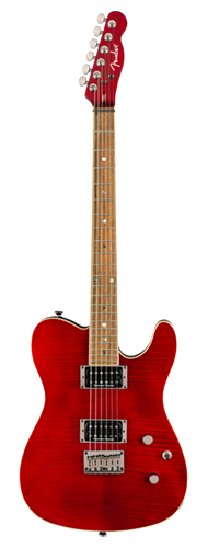 GUITARRA FENDER CUSTOM TELECASTER FMT HH 026-2004-538 CRIMSON RED TRANSPARENT