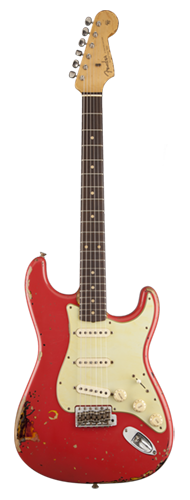 GUITARRA FENDER SIG SERIES MICHAEL LANDAU 1963 STRATOCASTER 155-2400-140 FIESTA RED OVER 3TSB