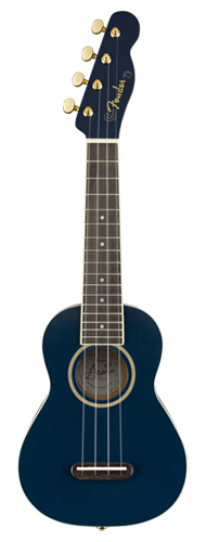 UKULELE FENDER GRACE VANDERWAAL SOPRANO 097-1610-102 MOONLIGHT NAVY BLUE