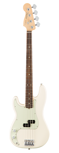 CONTRABAIXO FENDER AM PROFESSIONAL PRECISION BASS LH ROSEWOOD 019-4620-705 OLYMPIC WHITE