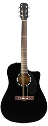 VIOL�O FENDER DREADNOUGHT CD-60 SCE 097-0113-006 BLACK