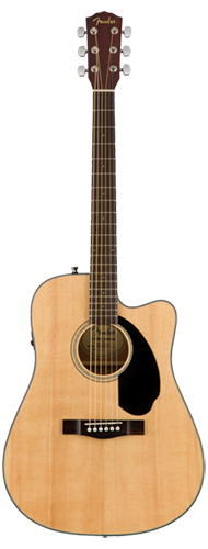 VIOL�O FENDER DREADNOUGHT CD-60 SCE 097-0113-021 NATURAL