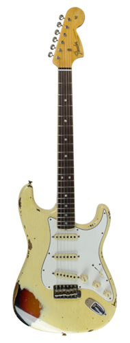 GUITARRA FENDER 67 STRATOCASTER HEAVY RELIC LTD EDITION 923-5000-940 AGED V.WHITE OVER 3TSB