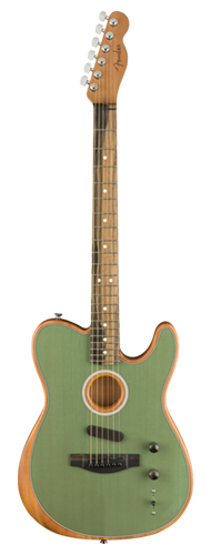 VIOL�O FENDER ACOUSTASONIC TELECASTER COM BAG 097-2013-257 SURF GREEN