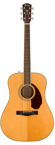 VIOL�O FENDER PARAMOUNT DREADNOUGHT PM-1E STANDARD C/ CASE 097-0312-321 ALL SOLID NATURAL