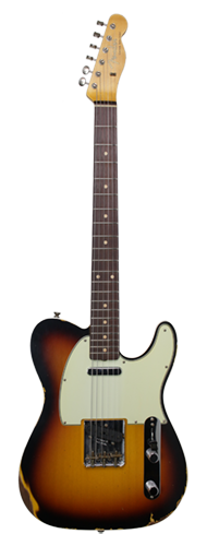 GUITARRA FENDER 62 TELECASTER CUSTOM RELIC LTD EDITION 155-1620-865 FADED 3-TSB
