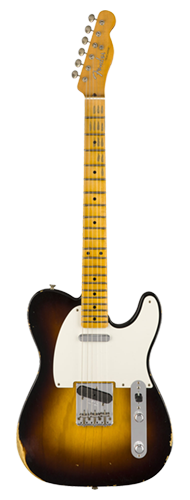 GUITARRA FENDER 54 TELECASTER RELIC LTD EDITION 923-5000-528 WIDE FADED 2-COLOR SUNBURST