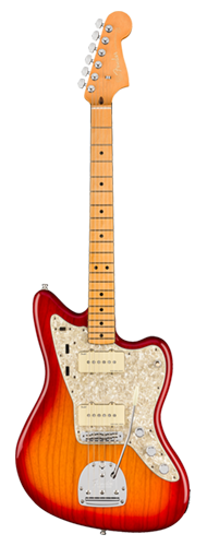 GUITARRA FENDER AM ULTRA JAZZMASTER MAPLE 011-8052-773 PLASMA RED BURST