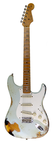 GUITARRA FENDER 56 STRATOCASTER HEAVY RELIC LTD EDITION 923-1011-908 S.FADED SONIC BLUE OVER 2-TS