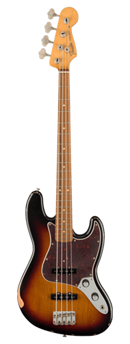 CONTRABAIXO FENDER ROAD WORN 60TH ANNIVERSARY JAZZ BASS PAU FERRO 014-0226-700 3-COLOR SUNBURST