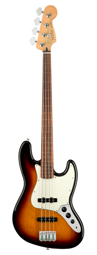 CONTRABAIXO FENDER PLAYER JAZZ BASS FRETLESS PF 014-9933-500 3-COLOR SUNBURST