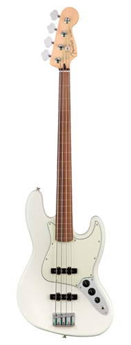 CONTRABAIXO FENDER PLAYER JAZZ BASS FRETLESS PF 014-9933-515 POLAR WHITE