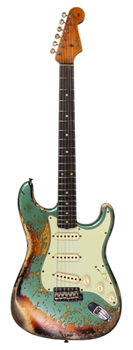 GUITARRA FENDER 60/63 STRATOCASTER SUPER HEVY RELIC LTD EDITION 923-1011-940 AGED SHERWOOD OVER 3TS