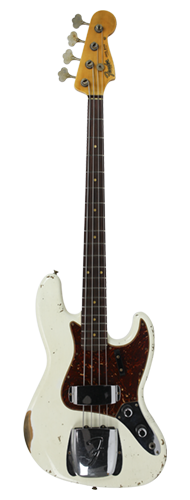 CONTRABAIXO FENDER CUSTOM SHOP 1960 JAZZ BASS HEAVY RELIC 923-5001-167 AGED OLYMPIC WHITE