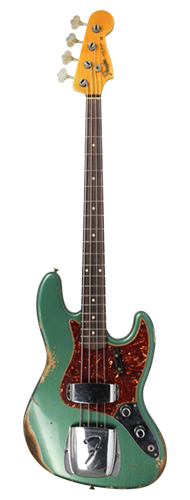 CONTRABAIXO FENDER CUSTOM SHOP 1960 JAZZ BASS HEAVY RELIC 923-5001-168 AGED SHERWOOD GREEN METALLIC