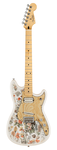 GUITARRA FENDER SIG SERIES SHAWN MENDES FUNDATION MUSICMASTER 014-0292-523 YELLOW FLORAL