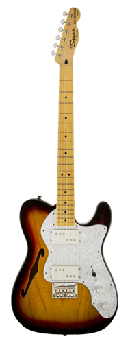 GUITARRA FENDER SQUIER VINTAGE MODIFIED TELECASTER THINLINE '72S - 030-1280-500 - 3-COLOR SB