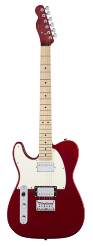 GUITARRA FENDER SQUIER CONTEMPORARY TELECASTER HH LH MN - 037-1229-525 - DARK METALLIC RED