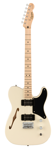 GUITARRA FENDER SQUIER PARANORMAL CABRONITA TELECASTER THINLINE MN 037-7020-505 OLYMPIC WHITE