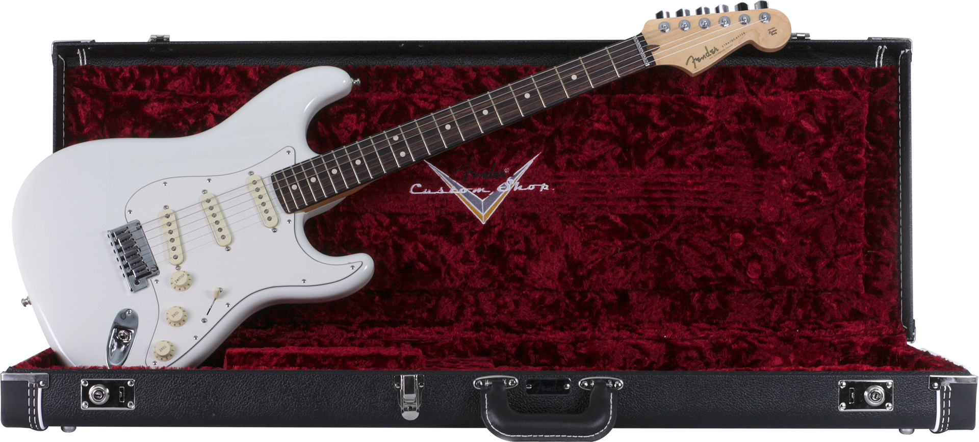 GUITARRA FENDER SIG SERIES JEFF BECK CUSTOM SHOP STRATOCASTER 015-0083-805 OLYMPIC WHITE