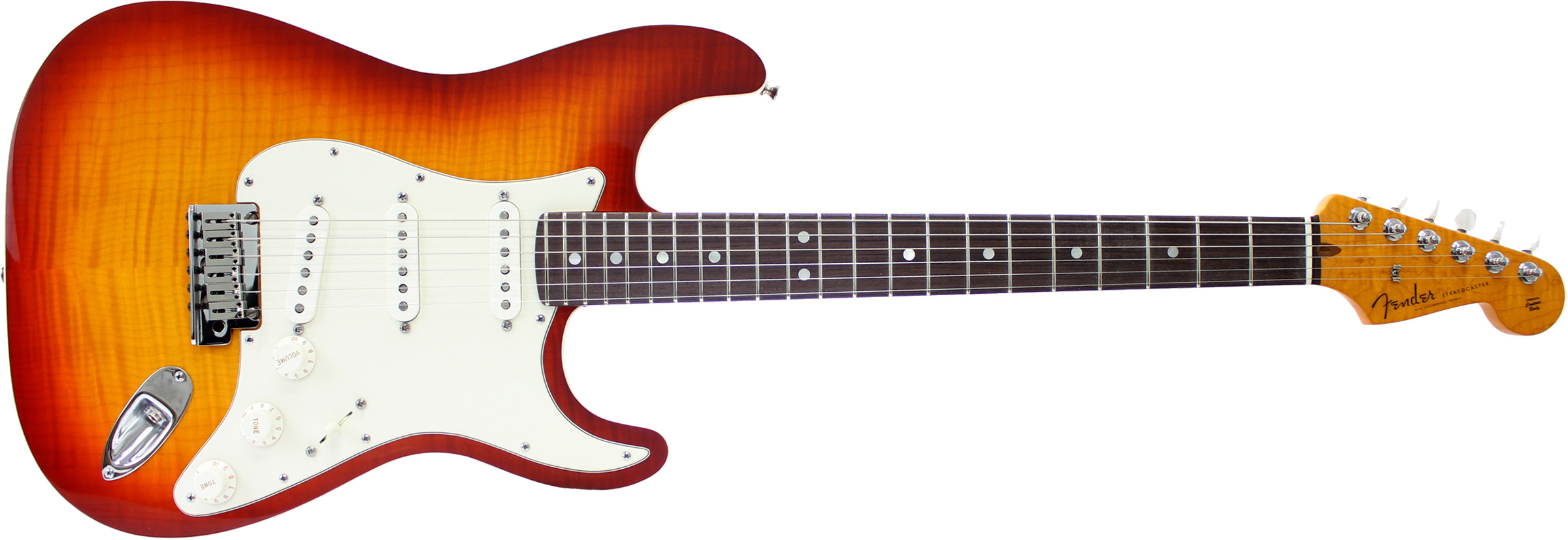 GUITARRA FENDER STRATOCASTER CUSTOM DELUXE SLAB BODY 923-0823-830 CHERRY SUNBURST