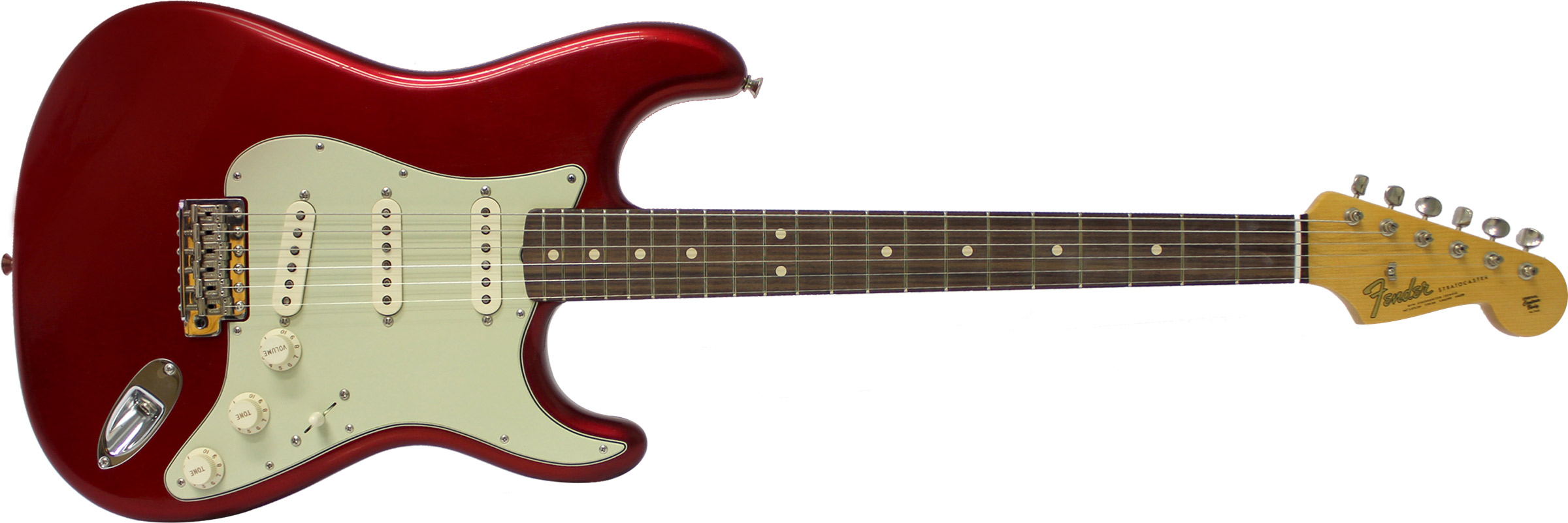 GUITARRA FENDER 151 9640 - 64 STRATOCASTER ANNIVERSARY CLOSET CLASSIC - 809 - CANDY APPLE RED