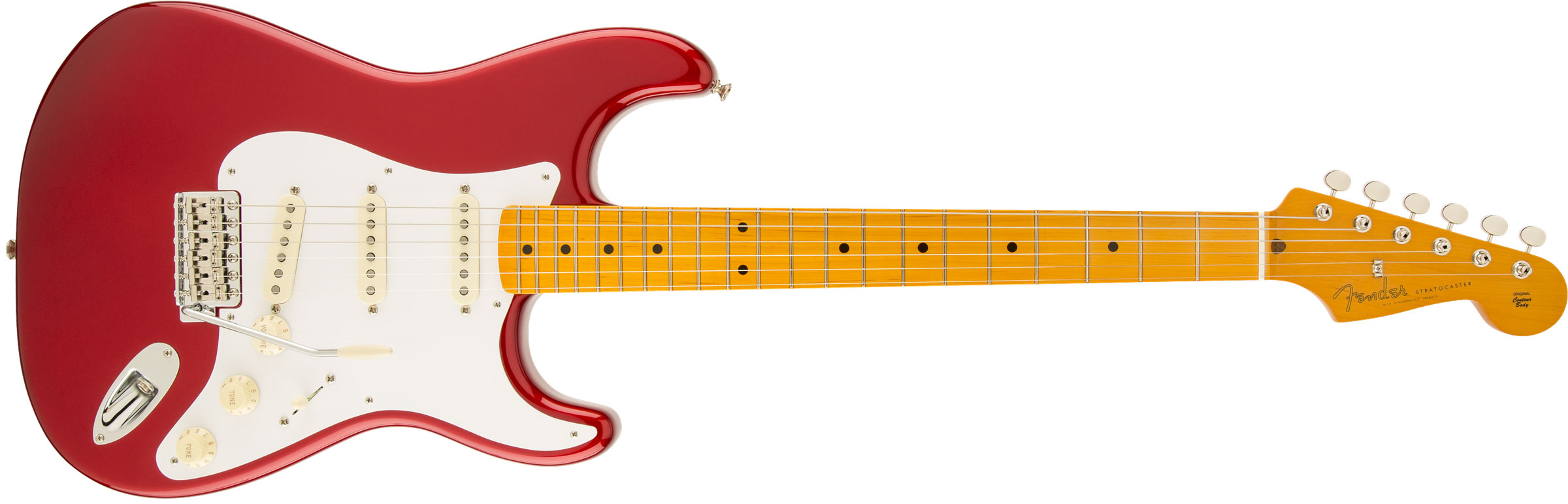 GUITARRA FENDER 014 0061 - 50S STRATOCASTER LACQUER MN - 709 - CANDY APPLE RED