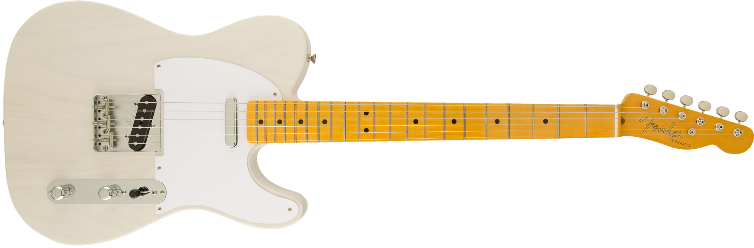 GUITARRA FENDER 50S TELECASTER LACQUER MN 014-0063-701 WHITE BLONDE